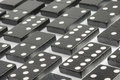 Black Domino bricks Royalty Free Stock Photo