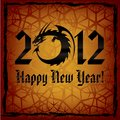 Black Dragon. 2012 New Year Card Stock Photo