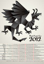 Black Dragon Year Royalty Free Stock Images