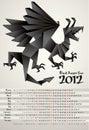 Black Dragon Year Royalty Free Stock Images