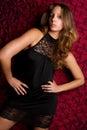 Black Dress Woman Royalty Free Stock Photo