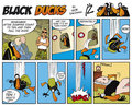Black Ducks Comic Strip episode 8 Royalty Free Stock Photography