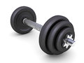 Black dumbells Royalty Free Stock Photos