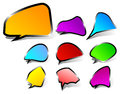 Black edged speech bubbles Royalty Free Stock Image