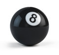 Black Eight billiard ball Royalty Free Stock Photo