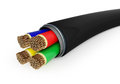 Black electrical cable Royalty Free Stock Photos