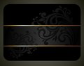 Black elegant card Stock Photo