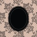 Black elegant doily on lace background Royalty Free Stock Images