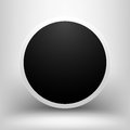 Black empty sphere with shadow this is file of eps format Royalty Free Stock Photos
