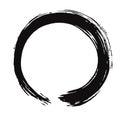 Black Enso Zen Vector Brush