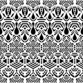Black ethnic seamless pattern Royalty Free Stock Photo