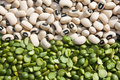 Black-Eyed Beans And Green Peas Royalty Free Stock Photo