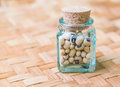 Black eyed peas in a corked bottle Royalty Free Stock Photos
