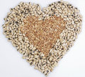 Black-Eyed Peas & Wheat berry Heart shape Stock Images