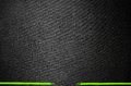 Black fabric background with green stripe Royalty Free Stock Photo