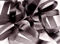 Black Fabric Ribbon  Stock Images