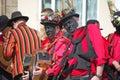 Black faced morris dancers Royalty Free Stock Photo