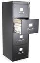 Black File Cabinet.