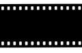 Black film strip on white background Royalty Free Stock Photo