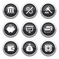 Black finance buttons Royalty Free Stock Photography