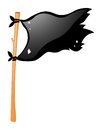 Black Flag On Wooden Stick