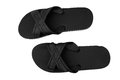 Black flip flop isolated on white pair of Stock Photo