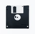 Black Floppy Disk Isolated on White Background Royalty Free Stock Photo