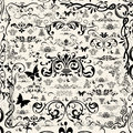 Black floral design elements borders corners for Royalty Free Stock Photography
