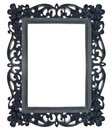 Black Floral Ornate Frame Stock Images
