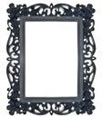 Black Floral Ornate Frame Stock Images