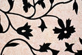 Black flower design pattern Stock Image