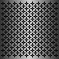 Black flower motive pattern in metallic background