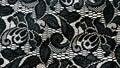 Black flowery lace elegant background Royalty Free Stock Photos