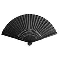 Black folding fan simple and elegant isolated on white background Royalty Free Stock Photography