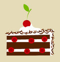 Black forest cake cherry vector illustration Stock Photo