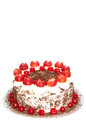 Black forest cake with copy space on top part Royalty Free Stock Image