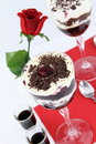 Black forest dessert cake Royalty Free Stock Images