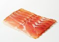 Black forest ham thin slices of dry cured smoked schwarzwald Stock Image