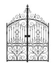 Black forged gate Royalty Free Stock Image