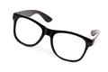 Black frame glasses Royalty Free Stock Images