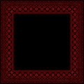 Black frame with red ornaments Stock Photography