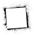 Black frame white background with ink blots eps Royalty Free Stock Images
