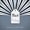 Black friday background with white tag Royalty Free Stock Photo