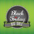 Black friday badge with the text big sale business holiday concept Royalty Free Stock Images