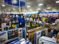 Black Friday in Best Buy Royalty Free Stock Photo