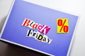 Black friday cartoon box collage Royalty Free Stock Images