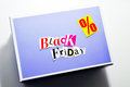 Black friday cartoon box collage Stock Images