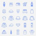 Black Friday Cloth Fashion Shopping Icon set