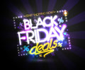 Black friday deals, start shopping now poster design concept, Royalty Free Stock Photo