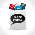 Black friday discount pack with various labels Royalty Free Stock Photography